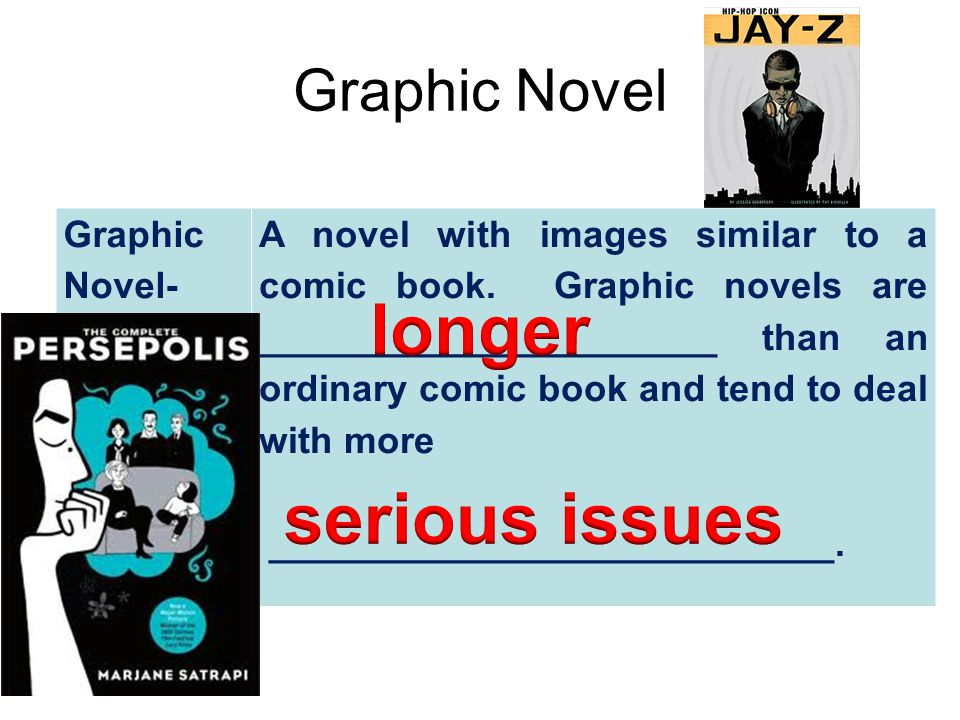 longer serious issues Graphic Novel Graphic Novel-