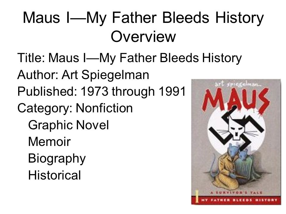 Maus I—My Father Bleeds History Overview