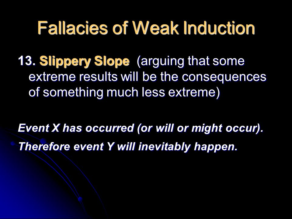 Fallacies of Weak Induction