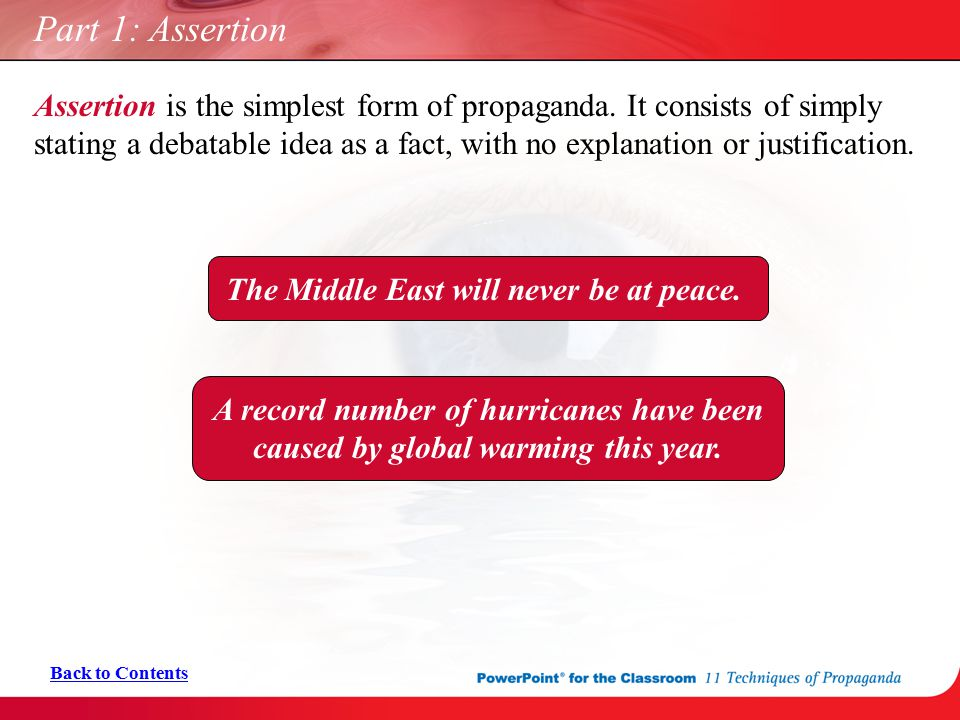 Part 1: Assertion