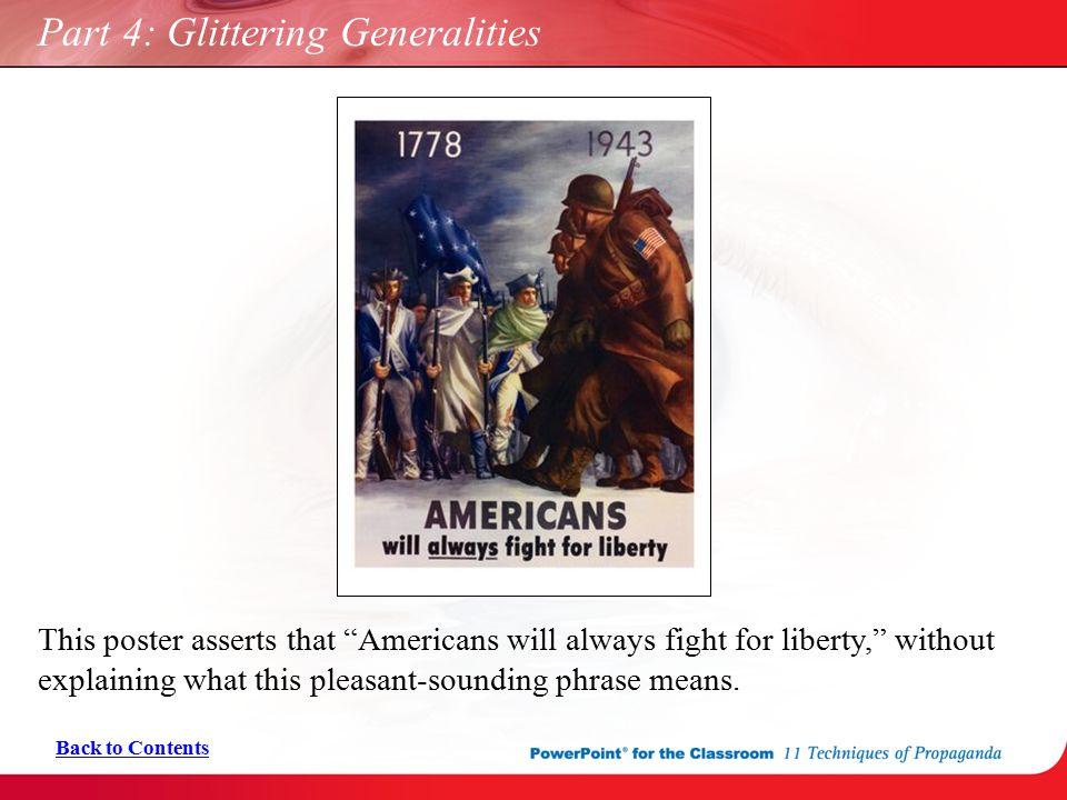 Part 4: Glittering Generalities