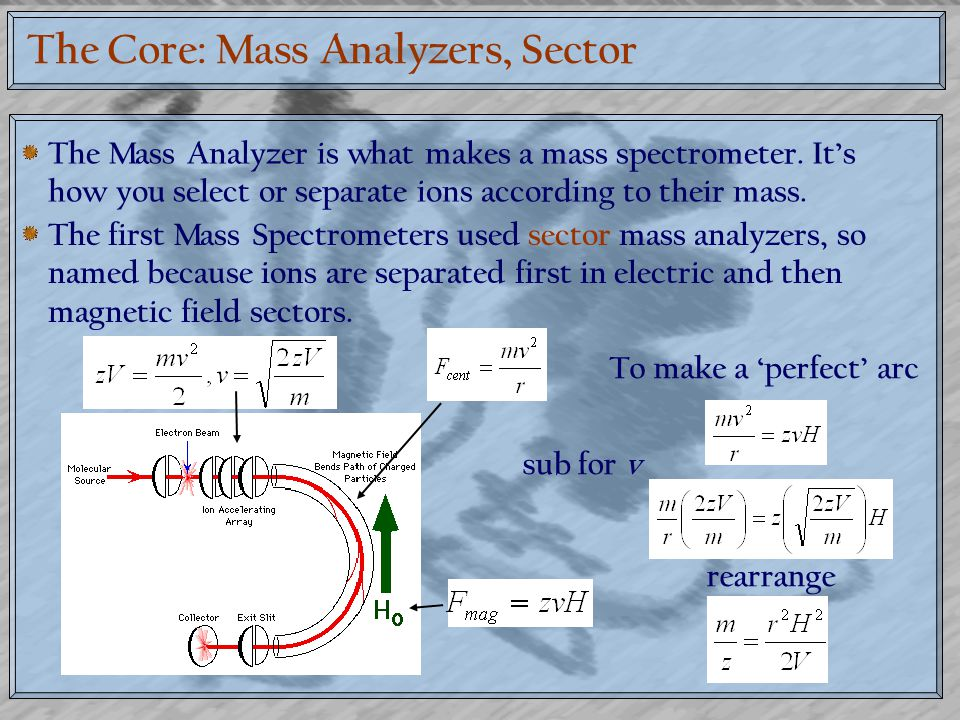 The Core: Mass Analyzers, Sector