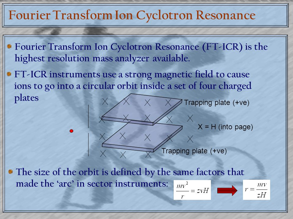Fourier Transform Ion Cyclotron Resonance