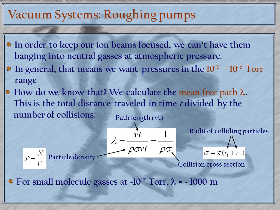 Vacuum Systems: Roughing pumps
