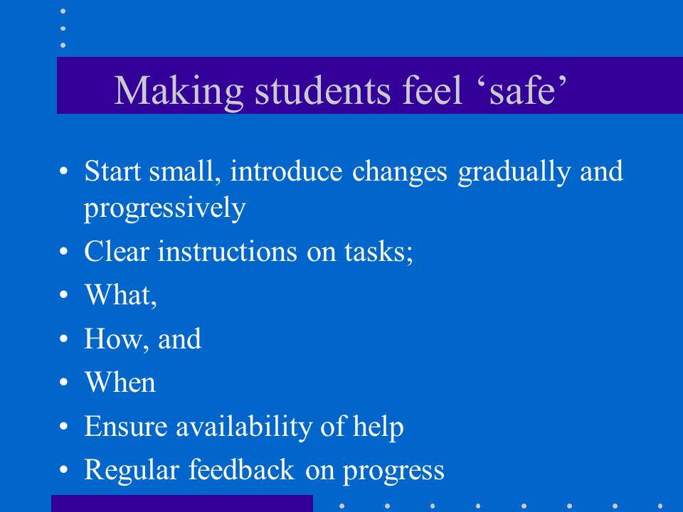 Making students feel 'safe'