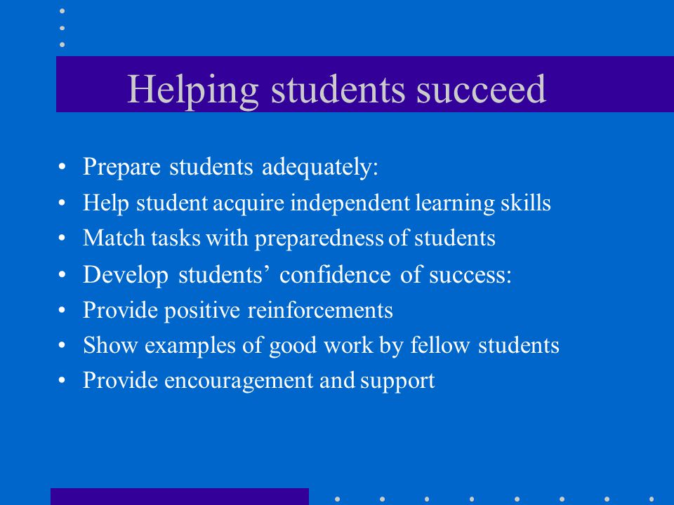 Helping students succeed