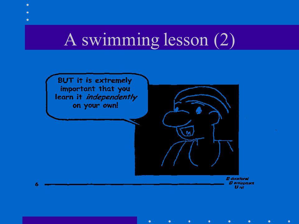A swimming lesson (2)