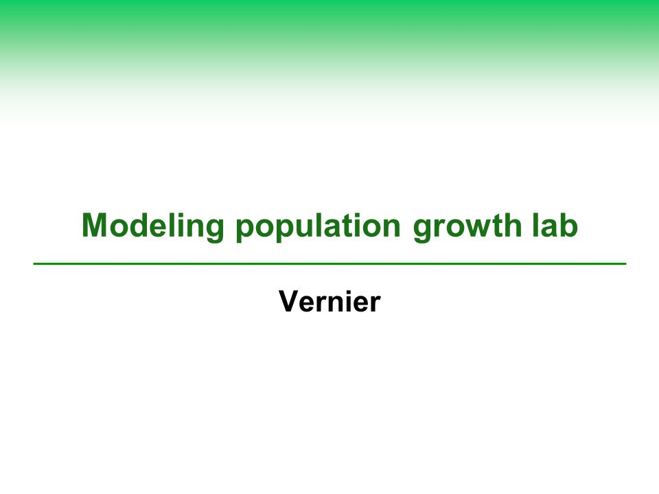 Modeling population growth lab