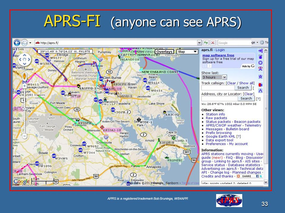 APRS-FI (anyone can see APRS)