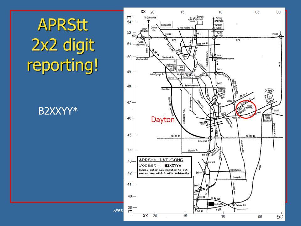 APRStt 2x2 digit reporting!