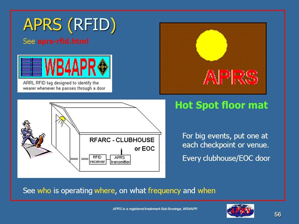 APRS (RFID) Hot Spot floor mat See aprs-rfid.html