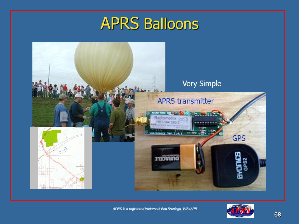 APRS Balloons Very Simple APRS transmitter GPS