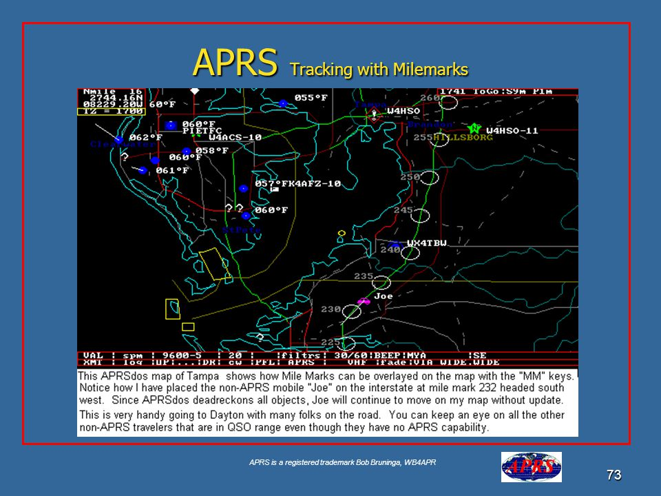 APRS Tracking with Milemarks