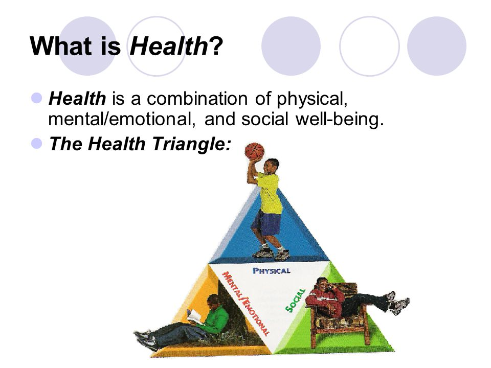 What is Health Health is a combination of physical mental – Health Triangle Worksheet