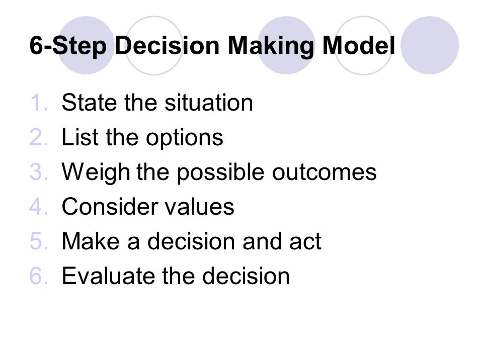 6-Step Decision Making Model