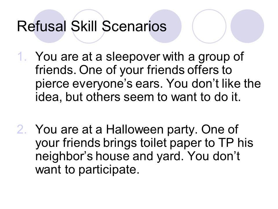 Refusal Skill Scenarios