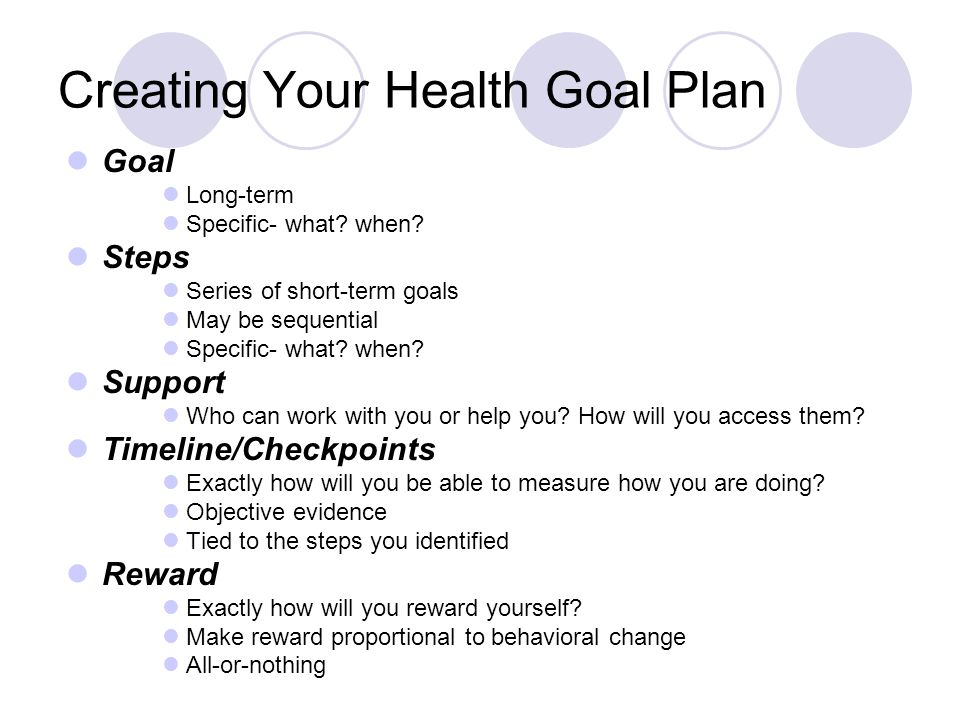 Creating Your Health Goal Plan