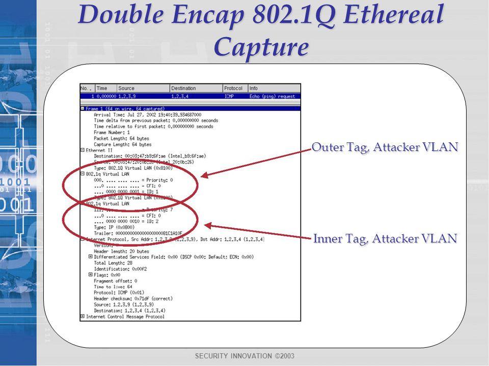 Double Encap 802.1Q Ethereal Capture