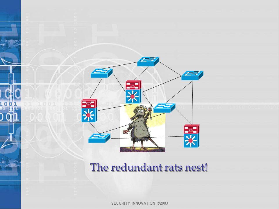 The redundant rats nest!