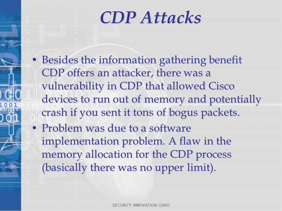CDP Attacks
