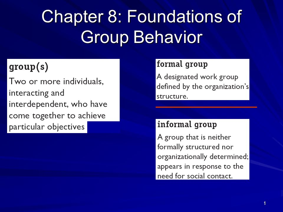 the foundations of group behavior At southcentral foundation, all changes and improvements are driven by  customer-owners customer-owner feedback is used at every level of the  organization,.