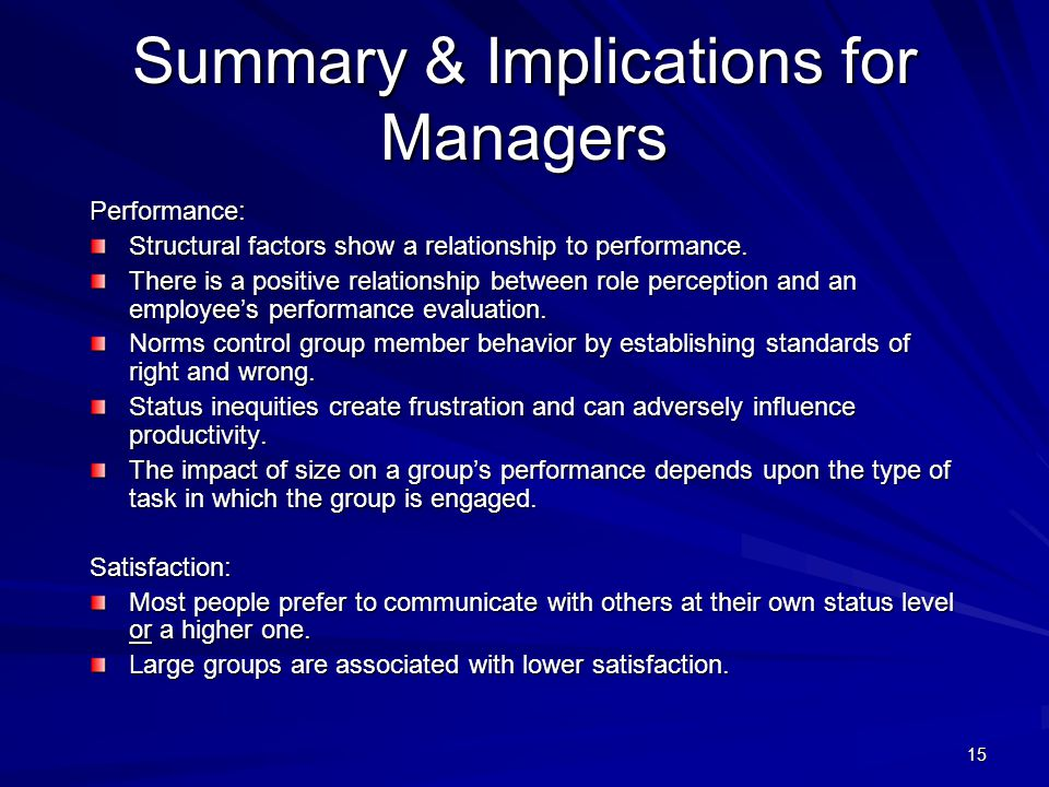 Summary & Implications for Managers