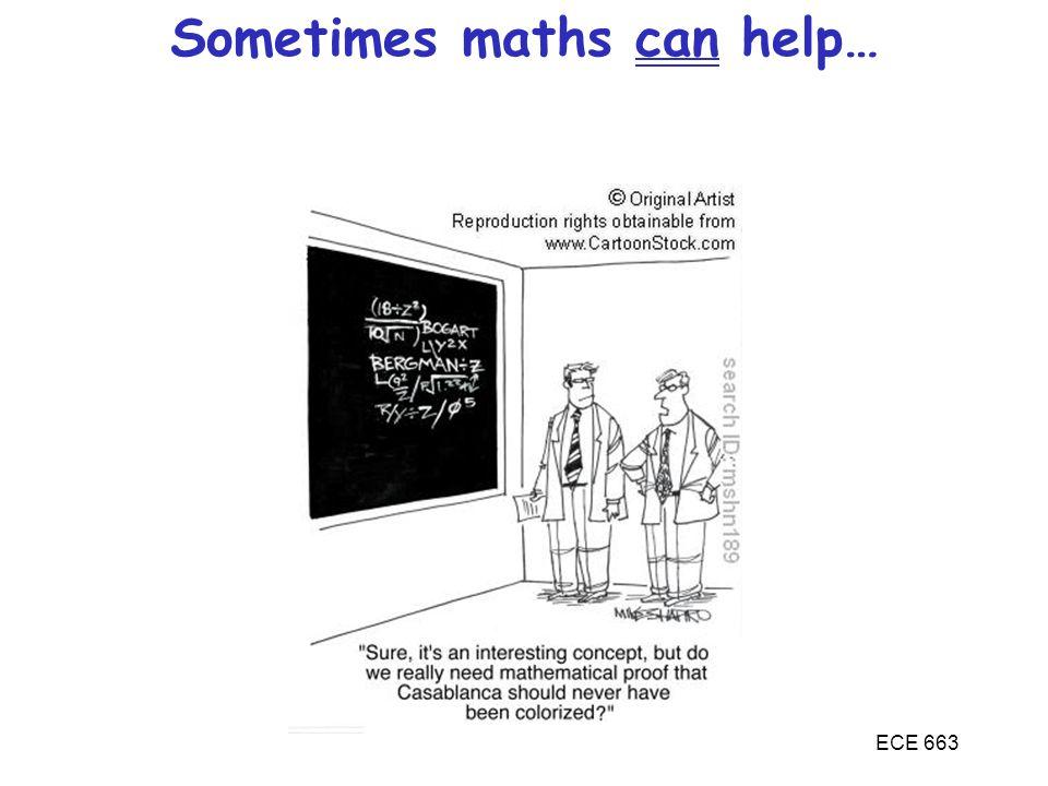 Sometimes maths can help…