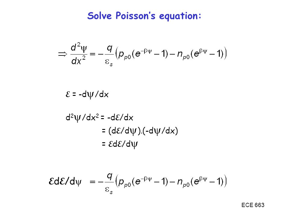 Solve Poisson's equation: