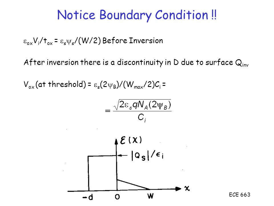 Notice Boundary Condition !!
