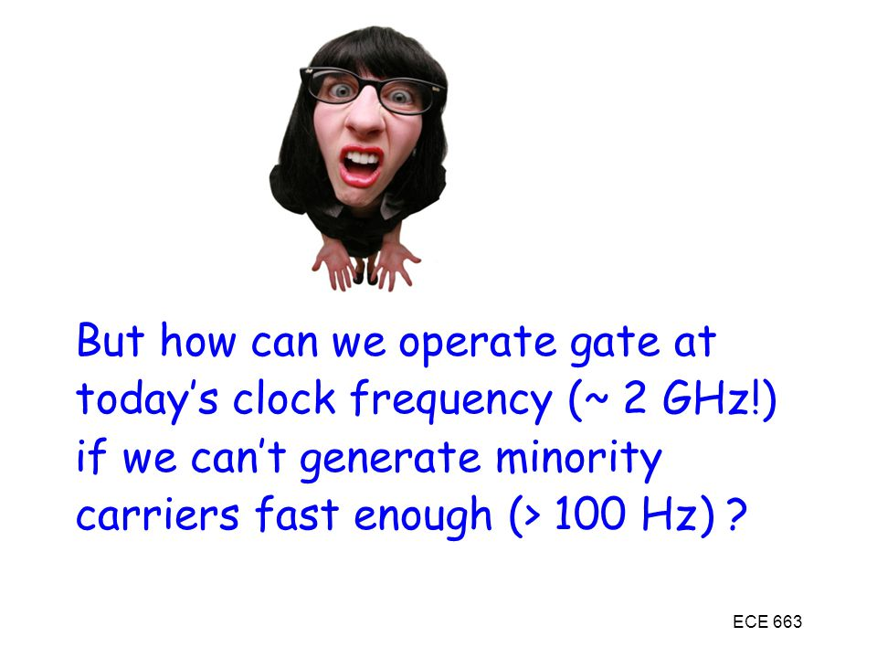 But how can we operate gate at today's clock frequency (~ 2 GHz!)
