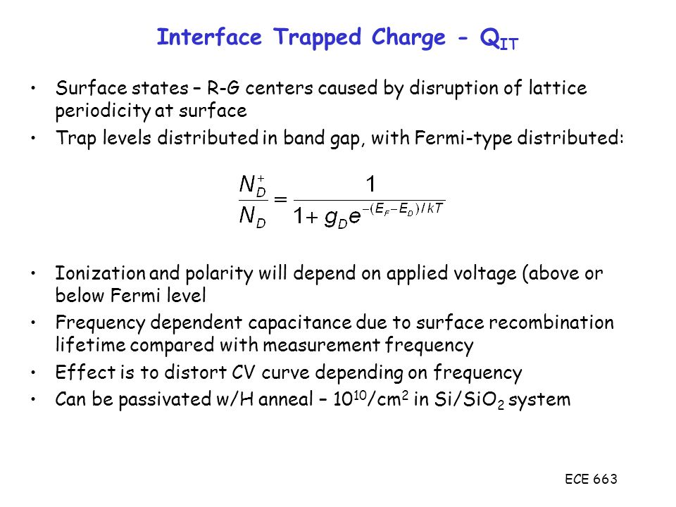 Interface Trapped Charge - QIT