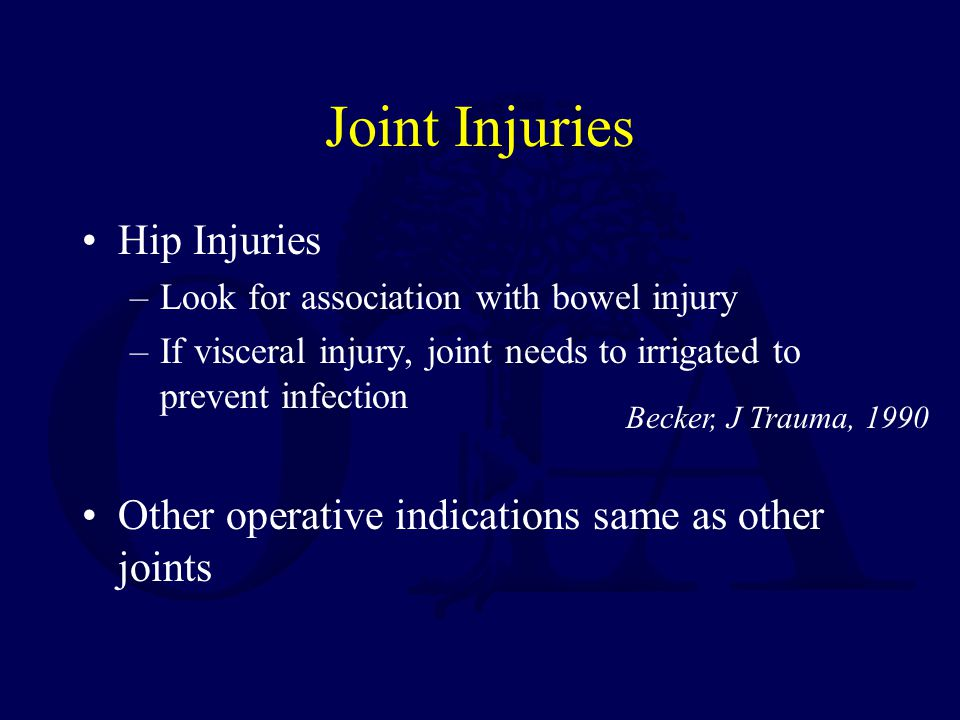 Joint Injuries Hip Injuries