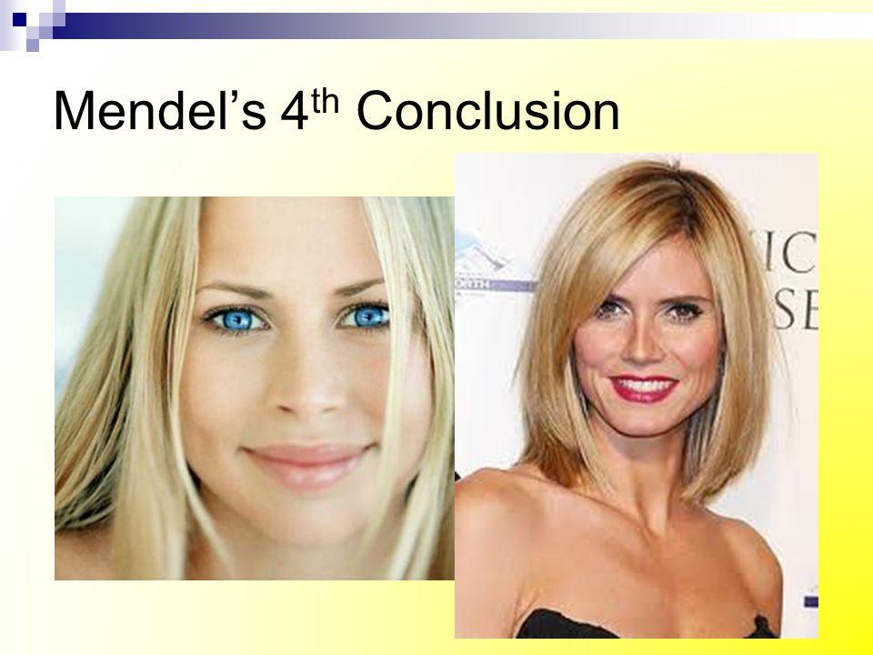 Mendel's 4th Conclusion