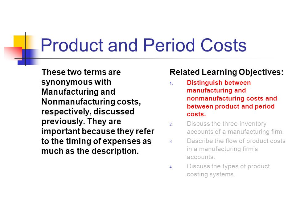 Product and Period Costs