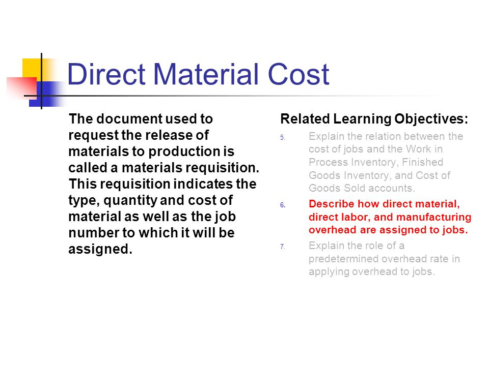 Direct Material Cost