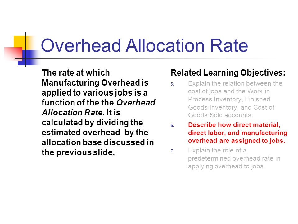 Overhead Allocation Rate