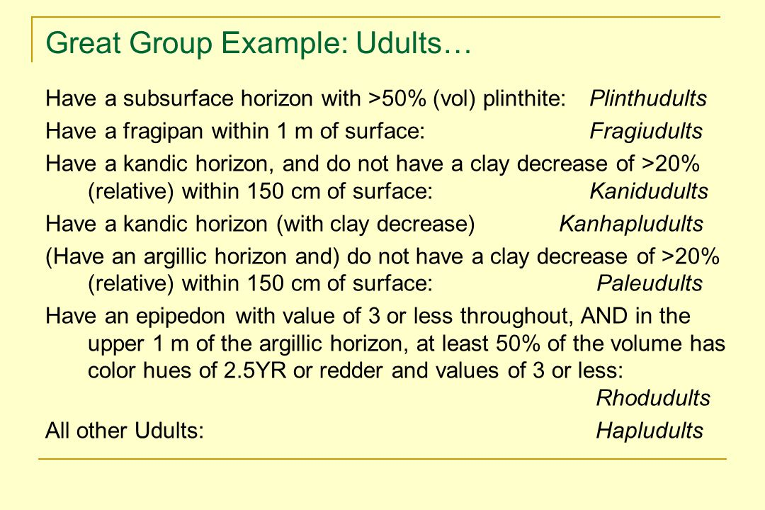 Great Group Example: Udults…