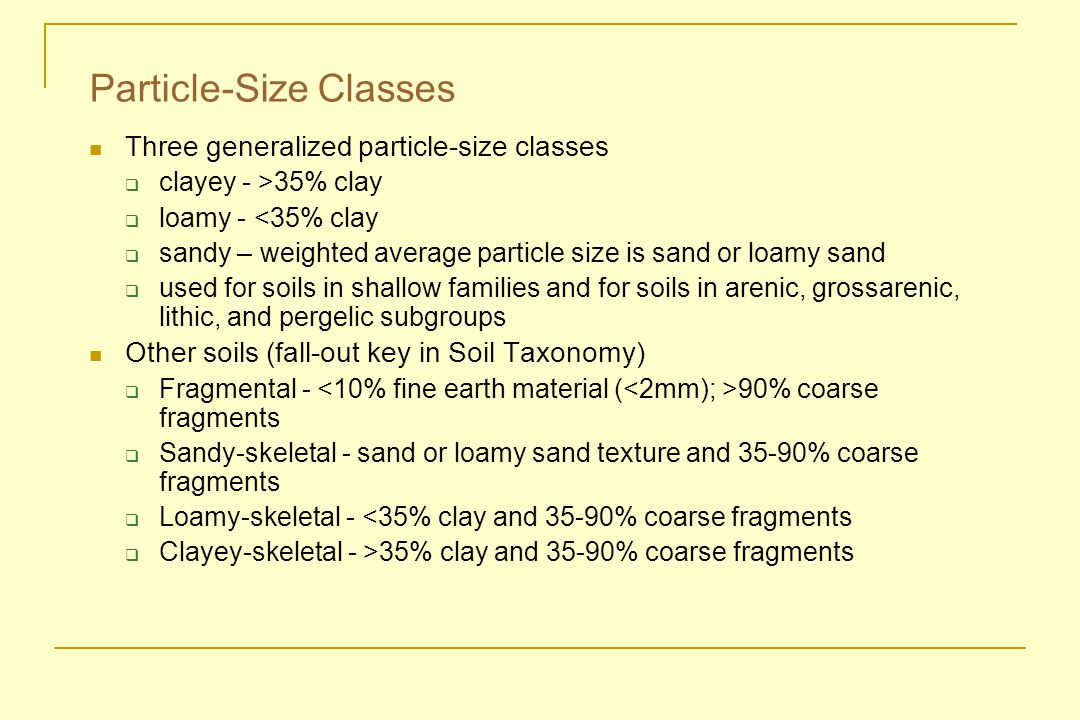 Particle-Size Classes