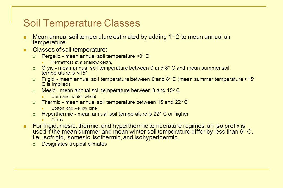 Soil Temperature Classes