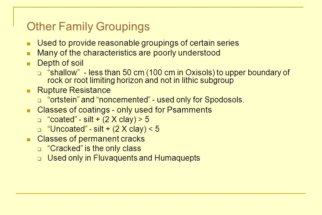 Other Family Groupings