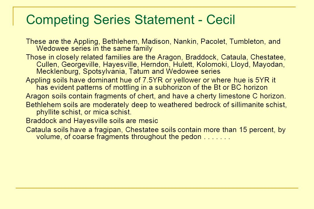 Competing Series Statement - Cecil