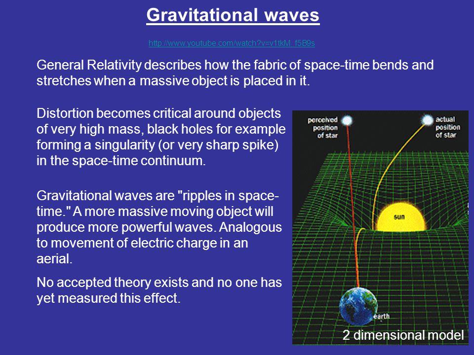 Gravitational waves http://www.youtube.com/watch v=v1tkM_f5B9s.