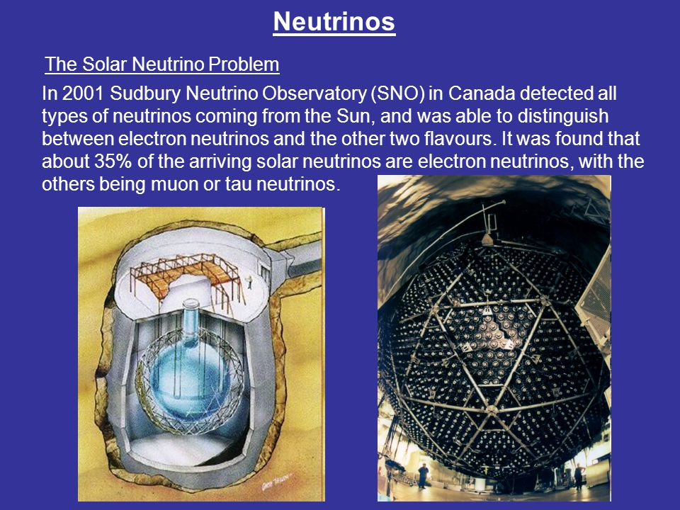 Neutrinos The Solar Neutrino Problem