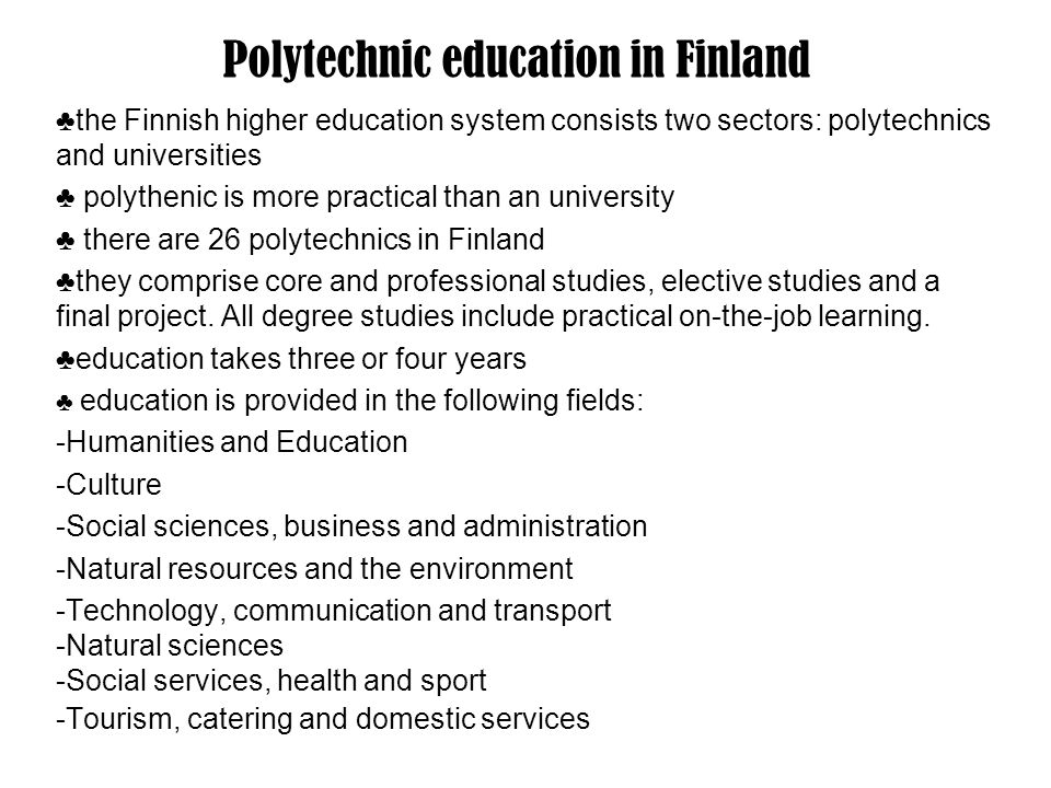 Polytechnic education in Finland