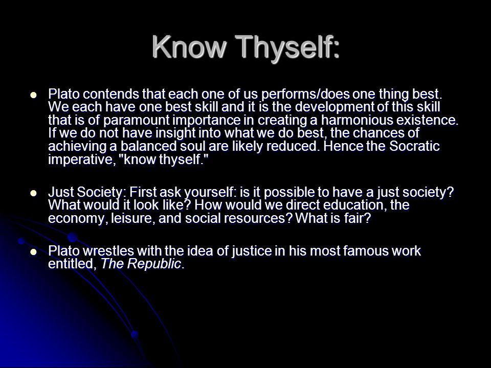 Know Thyself: