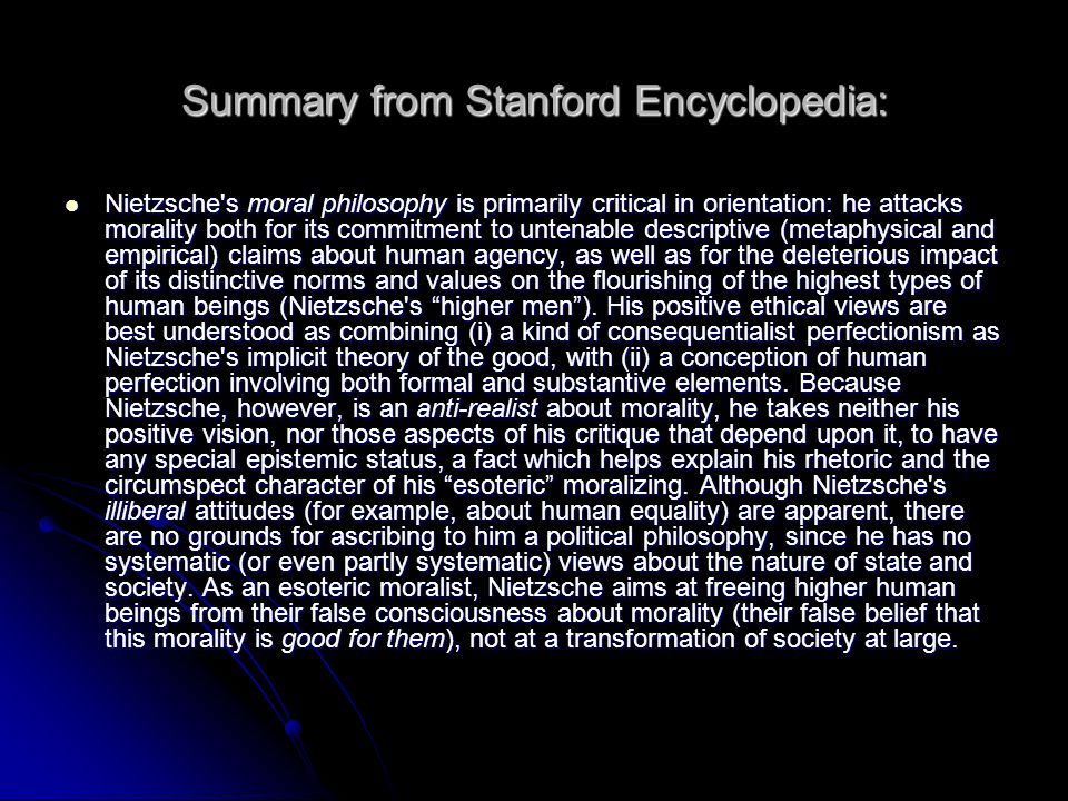 Summary from Stanford Encyclopedia: