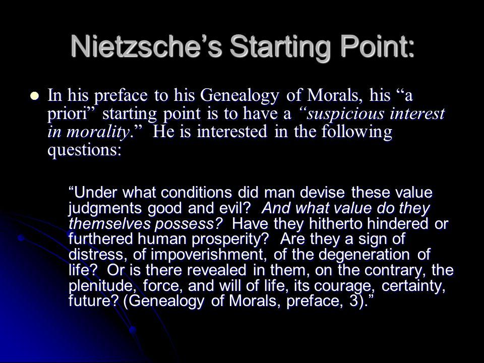 Nietzsche's Starting Point: