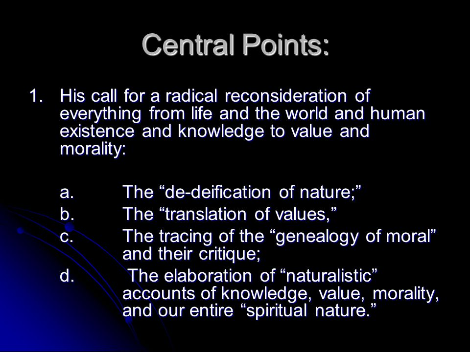 Central Points: