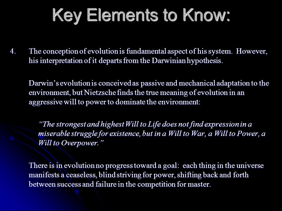 Key Elements to Know: