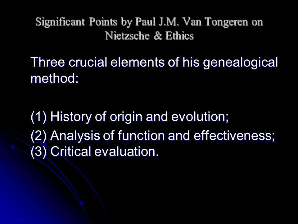 Significant Points by Paul J.M. Van Tongeren on Nietzsche & Ethics